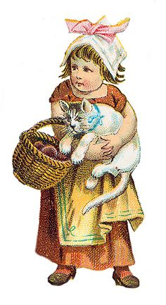 Little Girl With Cat By Goddess Of Chocolate Via Flickr Baby Cats And