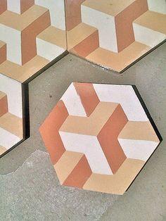 Hexagonal Heaven: Glass Table, Tiles & Probber Table — The Monday Scavenger