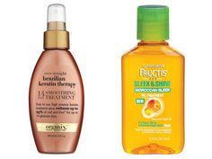 Ever Straight Brazilian Keratin Therapy or Garnier Fructis Sleek and Shine Moroccan Sleek Oil Treatment