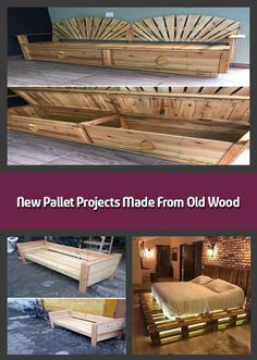 Here come the new pallet projects made from old wood which are amazingly adorable. These new pallet projects aimto boost the elegance of your home. Trendy Furniture, Sofa Furniture, Pallet Furniture, Furniture Ideas, Pallet Wall Decor, Pallet Bench, Pallet Bar, Garden Spaces, Old Wood