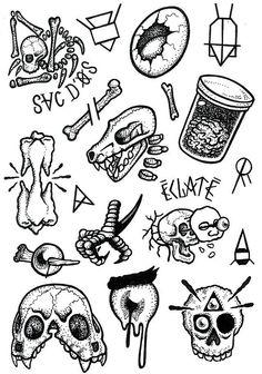 Occult art art tattoo drawings, tattoo designs и tattoo flas Future Tattoos, Love Tattoos, Black Tattoos, Body Art Tattoos, Small Tattoos, Ship Tattoos, Gun Tattoos, Ankle Tattoos, Arrow Tattoos