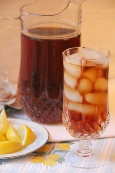 Simple syrup sweetened iced tea - refreshing!  Pitcher Perfect Sweet Tea     Summers in the South mean high tea consumption and during thi...