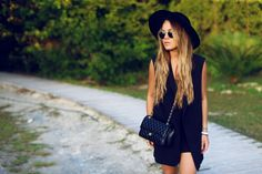 Angelica Blick - Cuba - All black outfit