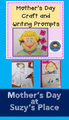 """Mother""""s Day is made extra special with this adorable writing prompt, self portrait and book. These make a timeless treasure any mom would love. This also includes templates for grandma and aunt. Primary Classroom, Kindergarten Teachers, Classroom Crafts, Elementary Teacher, Classroom Ideas, Mothers Day Crafts, Mother Day Gifts, Mom Template, Mothers Day Drawings"""
