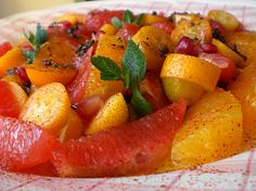 Hot and Sour Salad with Grapefruit, Oranges, and Kumquats