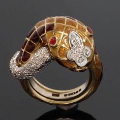David Webb David Webb Enamel Snake Ring