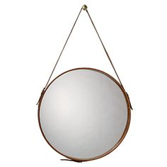 Round Leather Mirror by Jamie Young Co.