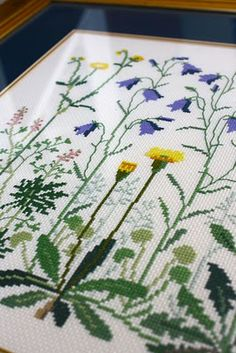 "botanical embroidery: ""Edge of Ditch"" by Danish Handcraft Guild"