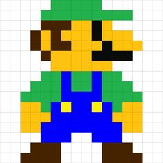 Mario minecraft pixel art template pixel pinterest pixel art from minecraft pixel art luigi go with the mario blanketinking this needs pronofoot35fo Image collections