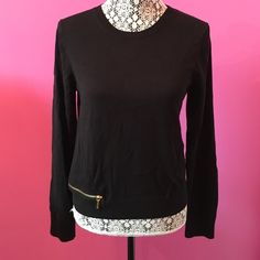 b27b50cba79bf3 NWT Michael Kors Black Zippered Top NWT! MICHAEL Michael Kors black  sweater. Gold zipper