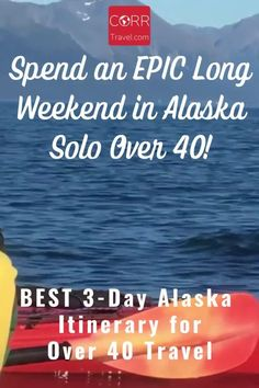 A great Alaska travel itinerary for your solo over 40 travel to Alaska! Use my What to Do in Alaska travel tips and Alaska travel itinerary for an EPIC, long weekend in Alaska travel destinations Anchorage and Seward Alaska. @corrtravel #CORRTravel Over 40 Travel   Alaska Travel Guide   Solo Travel Itinerary   Solo Female Travel Itinerary   Solo Travel Destinations   Solo Travel Tips   Travel Planning   Travel Tips and Tricks   Retirement Travel Ideas   USA Travel Guide Solo Travel Tips, Usa Travel Guide, Travel Usa, Travel Guides, Seward Alaska, Alaska Travel, Road Trip Usa, Long Weekend, Trip Planning