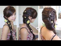 Fancy Fishtail Braid Hairstyle for Medium Long Hair Tutorial - YouTubeBraid Hairstyles, Braids, braids tutorial, braids for short hair, braids for short hair tutorial, braids for long hair, braids for long hair tutorials... Check more at http://app.cerkos.com/pin/fancy-fishtail-braid-hairstyle-for-medium-long-hair-tutorial-youtube/