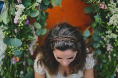 braided crown of hair