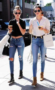 Los skinny jeans que Kendall Jenner usa para ir de compras