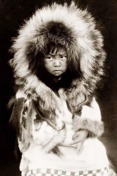 It was taken in 1929 by Edward S. Curtis.  Eskimo Child  It was taken in 1929 by Edward S. Curtis.