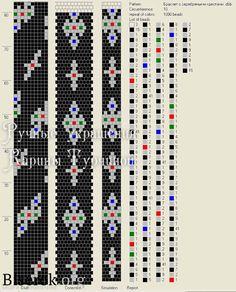схема жгута с серебряными крестами на 10 бисерин