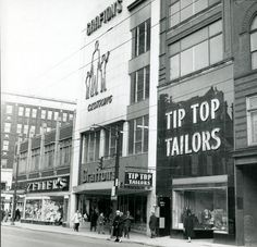 DOWNTOWN ZELLER'S, GRAFTON'S, MOM BOUGHT ME A COAT THERE AND TIP TOP MENS' SHOP Old Pictures, Old Photos, Hamilton Ontario Canada, Countries Of The World, Street View, Heartstrings, Ottawa, Bingo, Lust