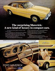1973 Karla I don't remember my mama's Maverick being luxury. Do you? Lol