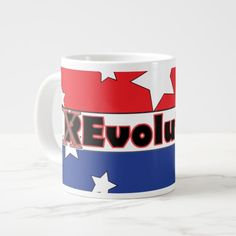 REvolution Red White and Blue Large Coffee Mug - $26.95 - REvolution Red White and Blue Large Coffee Mug - by #RGebbiePhoto @ #zazzle - #Revolution #Protest #Corruption - Serious Coffee drinkers need Jumbo mugs. Are you a Proud, patriotic citizen tired of what our country has become? Revolution is Evolution, Change for the better. If you are tired of corruption and arrogance in our Political, Media, Corporate and Legal system then this is for you!