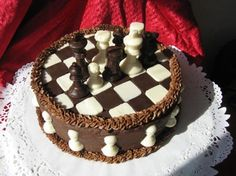 Make and share this Checkerboard Cake recipe from Genius Kitchen. Round Cake Pans, Round Cakes, Pasta Salad Recipes, Healthy Salad Recipes, Chess Cake, Checkerboard Cake, Cakes For Men, Unsweetened Cocoa, Melting Chocolate