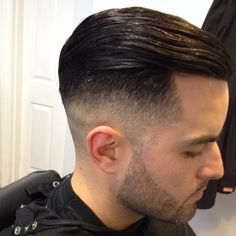 High Fade with Slick Back Combover.