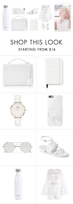 """gemini"" by nk-ta ❤ liked on Polyvore featuring Mark Cross, Kate Spade, Daniel Wellington, Native Union, Linda Farrow, Jil Sander, S'well, Chicwish, Summer and white"