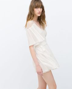 ZARA - WOMAN - DRESS WITH CROSSOVER FRONT.