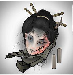 Oni Tattoo, Hanya Tattoo, Occult Tattoo, Alien Tattoo, Samurai Tattoo, Tattoo Symbols, Art Tattoos, Japanese Girl Tattoo, Japanese Tattoo Designs