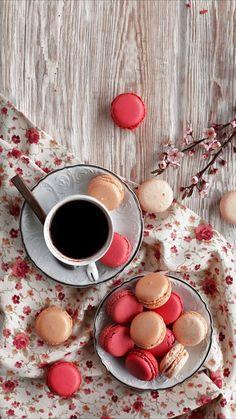 coffee food sweets breakfast aesthetic cute chocolate uploaded user macaron