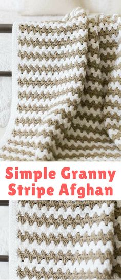 Where are my crochet people at? I've got a new afghan project for ya! About time, right? This simple granny stripe afghan is my latest and I think you'll love, love, love it!