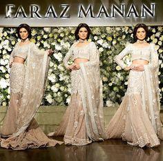 This stunning bridal dress by Faraz Manan Dream Wedding Dresses, Bridal Dresses, Bridesmaid Dresses, Faraz Manan, Desi Wear, Pakistani Dresses, Dusty Rose, Pink Roses, Indian Fashion