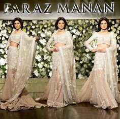 This stunning bridal dress by Faraz Manan