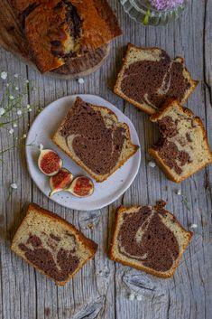 Veganer Marmorkuchen - gesund backen - Mrs Flury Tiramisu, French Toast, Clean Eating, Muffin, Low Carb, Sweets, Cooking, Breakfast, Cake