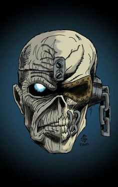 Eddie from Iron Maiden + Vic Rattlehead from Megadeth Heavy Metal Bands, Arte Heavy Metal, Vic Rattlehead, Rock Bands, Iron Maiden Albums, Iron Maiden Posters, Eddie The Head, Iron Maiden Band, Rock Y Metal