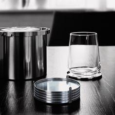 Stelton Cylinda-Line AJ Glass Coasters Set Of 6 #wedding #weddinggift #gift #weddingregistry