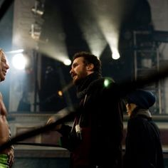 Mickey Rourke and Darren Aronofsky in The Wrestler