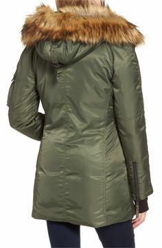 Sensible Penfield Black Puffer Parka Jacket W/ Faux Fur Hood~ Medium Men's Clothing