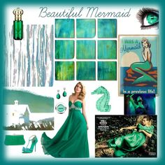Beautiful Mermaid by giovanina-001 on Polyvore featuring Giuseppe Zanotti, HOBO, CZ by Kenneth Jay Lane, Clive Christian and Liberty Art Fabrics
