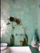 1000 images about zelliges inspiration bord on pinterest tile credence cuisine and moroccan - Credence cement tegels ...