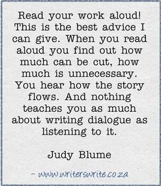 Read your work aloud. will try!