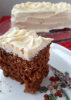 Glutenfri krydderkake med melkefri ostekrem Vegan Baking, Vanilla Cake, Nom Nom, Pie, Keto, Snacks, Cookies, Desserts, Recipes