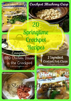 20 Springtime Crockpot Recipes #crockpot #slowccoker