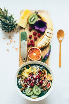 Detox, smoothie bowl, health smoothie recipes, healthy smoothies, healthy s Smoothie Detox, Health Smoothie Recipes, Smoothie Bowl, Healthy Smoothies, Healthy Desayunos, Healthy Snacks, Nutritious Meals, Healthy Eating, Health Breakfast