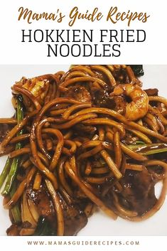 Stir fried in chili paste, oy. Stir fried in chili paste, oyster sauce and soy s - Asian Recipes, Beef Recipes, Cooking Recipes, Savoury Recipes, Chicken Recipes, Hokkien Noodles Recipe, Stir Fry Hokkien Noodles, Noodle Sauce Recipe, Sauces