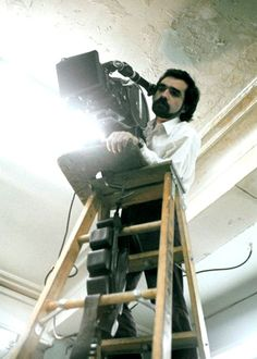 "Martin Scorsese filming ""Taxi driver"""