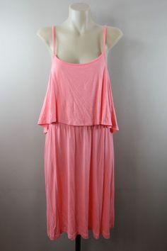 NWT Size 16 SL  Ladies Jersey Sundress Casual Boho Beach Party Hippie Stretch