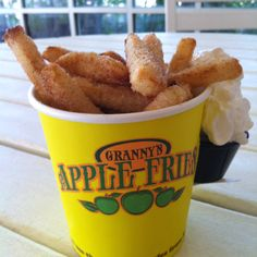 Legoland's Granny Apple Fries! More photos and info available at www.themeparkfoodie.net