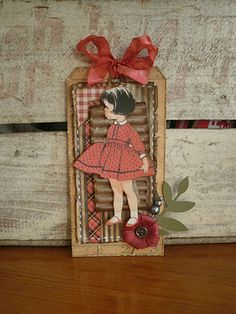 Ready for final approval Vintage Girl Tag • Weekly Scrapper