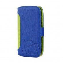 Capa Moto G Cruzerlite - Bugdroid Circuit Intelligent Wallet Blue Green  19,99 €