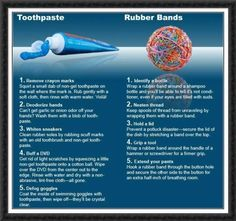 toothpaste & rubberbands